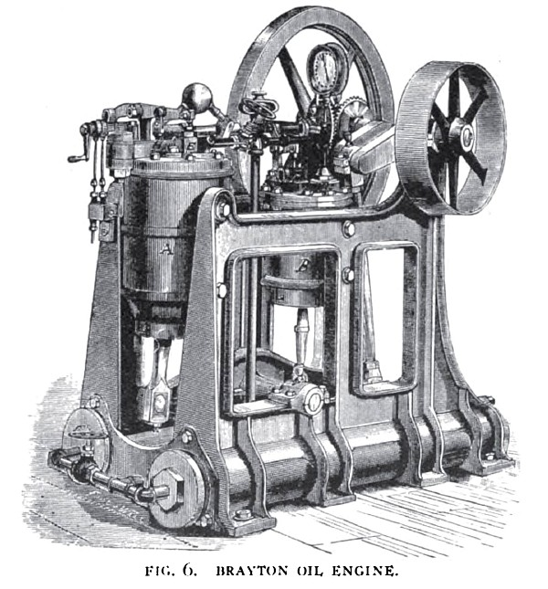 Brayton Oil Engine