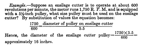 Pulley Ratio Example