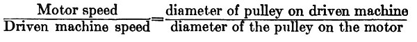 Pulley Ratio Formula