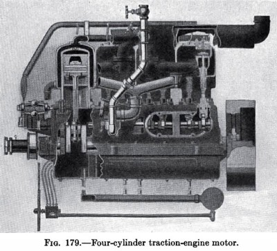 Four Cylinder Traction Engine Motor