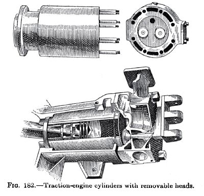 Traction Engine Cylinders with Removable Heads