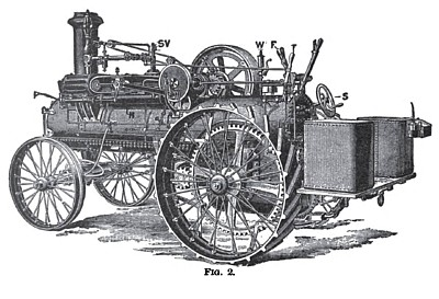 Steam Traction Engine (Cylinder Side)