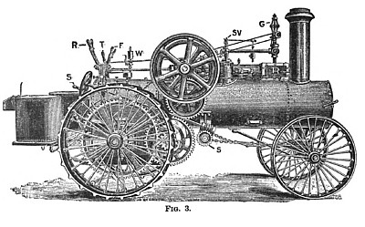 Steam Traction Engine (Flywheel Side)