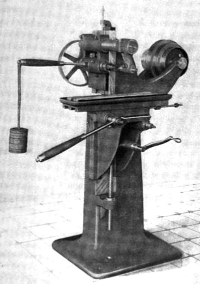 Fig. 12, Hand Miller with Overhanging Arm