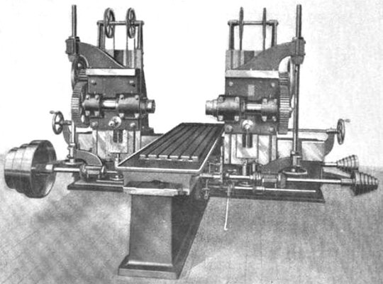 Fig. 7, Double Head Horizontal Spindle Miller