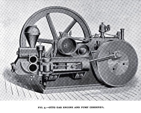 Fig. 4—Otto Gas Engine and Pump Combined