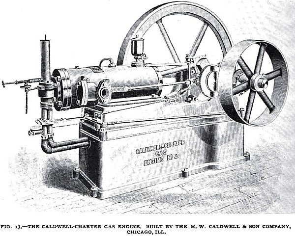 Fig. 13— The Caldwell-Charter Gas Engine