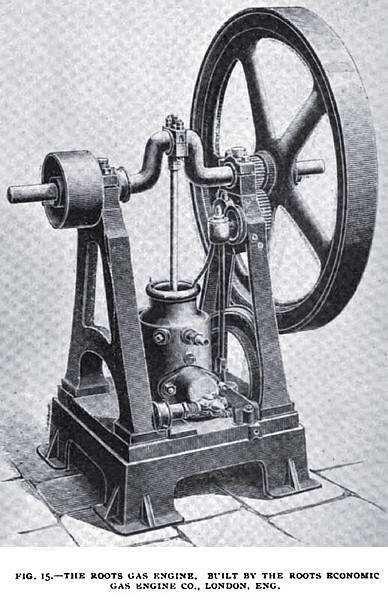 Fig. 15— The Roots Gas Engine