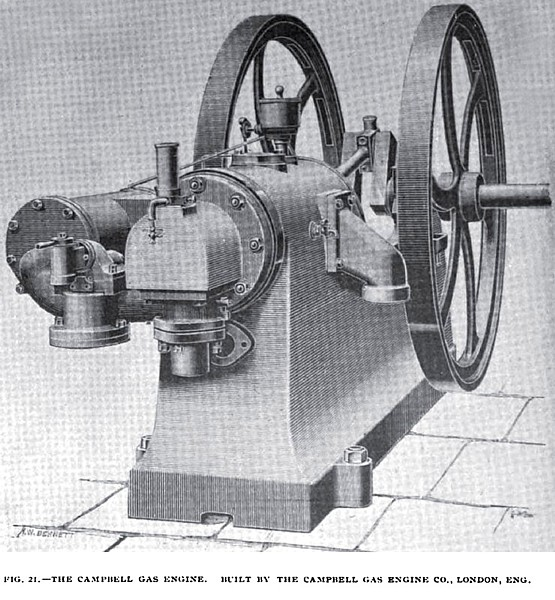 Fig. 21— The Campbell Gas Engine