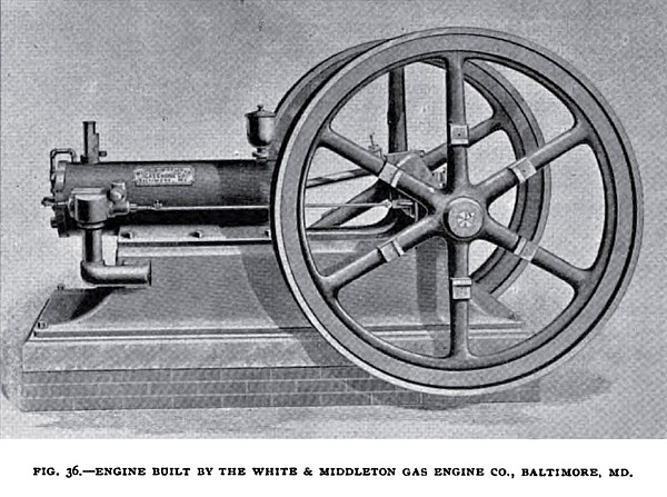 Fig. 36— The White & Middleton Gas Engine