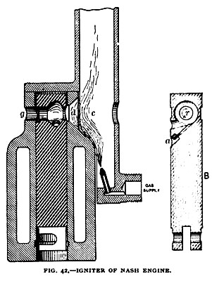 Fig. 42— The Nash Gas Engine, Vertical Section