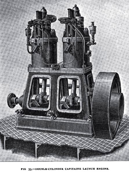 Fig. 53— Double Cylinder Captaine Launch Engine