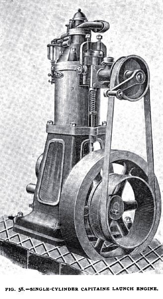 Fig. 58—Single Cylinder Captaine Launch Engine