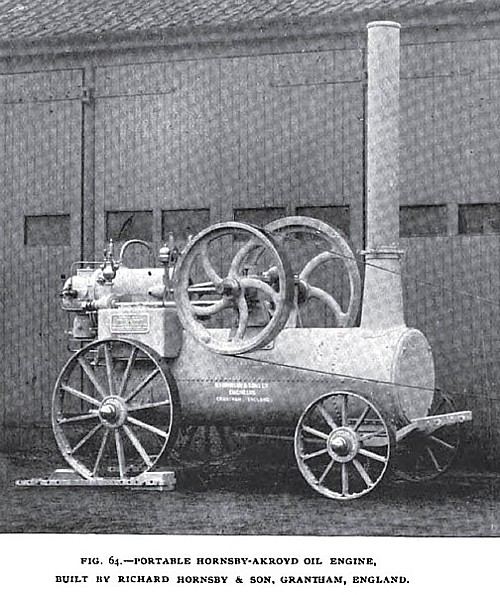 Fig. 64— The Portable Hornsby-Akroyd Gas Engine