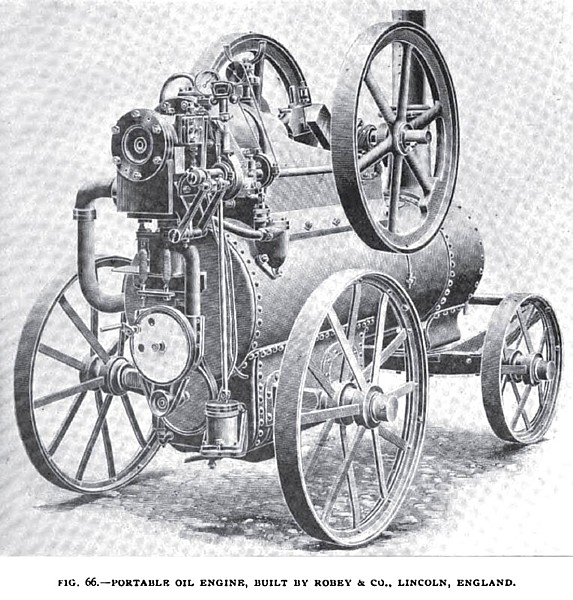 Fig. 66— The Portable Robey Oil Engine