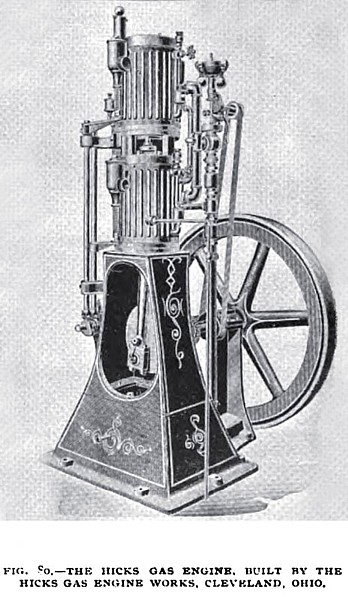 Fig. 80— The Hicks Vertical Gas Engine