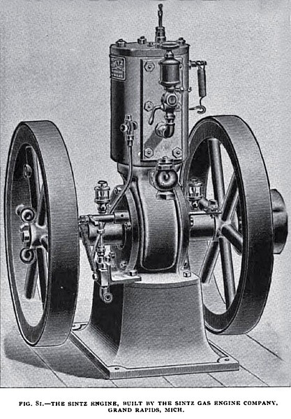 Fig. 81— The Sintz Vertical Gas Engine