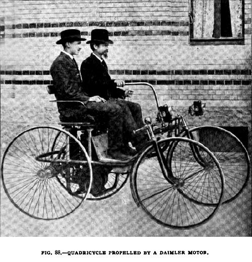 Fig. 88—Daimler Quadricycle