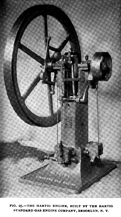 Fig. 95— Hartig Single Flywheel Vertical Gas Engine