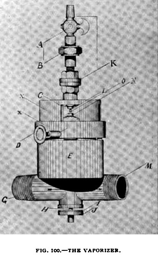 Fig. 100— Vaporizer for Pacific Gas Engine