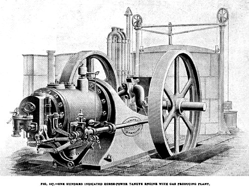 Fig. 107— 100 H.P. Tangye Gas Engine
