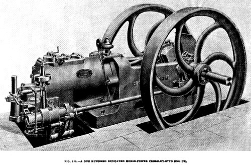 Fig. 110— 100 H.P. Crossley Gas Engine