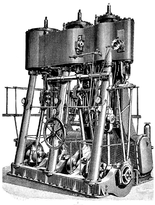 Triple-Expansion Marine Steam Engine