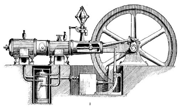 Tandem Compound Condensing Steam Engine