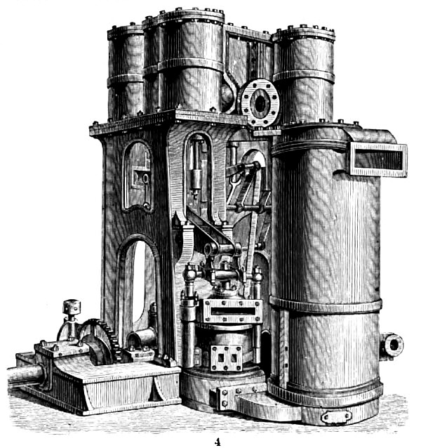 Rowan's Twin Triple Compound Steam Engine