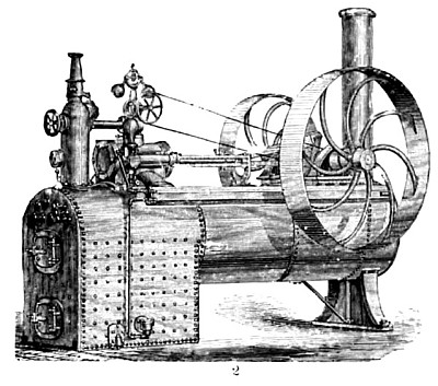 German Semi-Portable Steam Engine