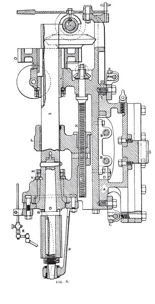 Milling Spindle Sectional View