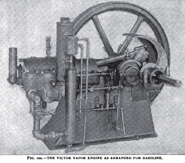 The Victor Vapor Engine as Arranged for Gasoline