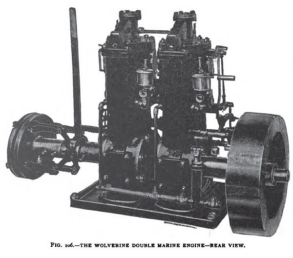 The Woverine Double Marine Engine (Rear View)