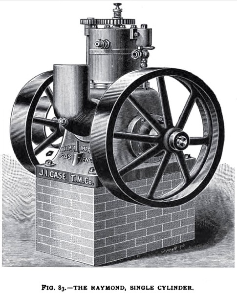 The Raymond Single Cylinder Gas Engine