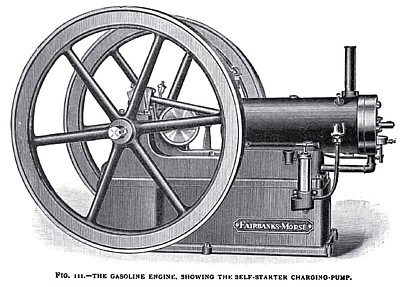The Fairbanks-Morse Gas Engine, Showing the Self-Starter Charging Pump