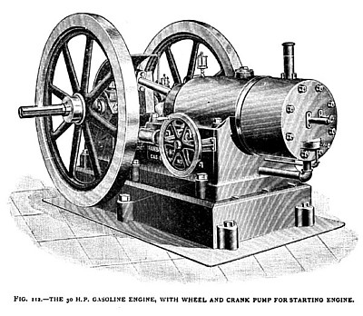 The Fairbanks-Morse Gas Engine, with Wheel & Crank Pump for Starting Engine