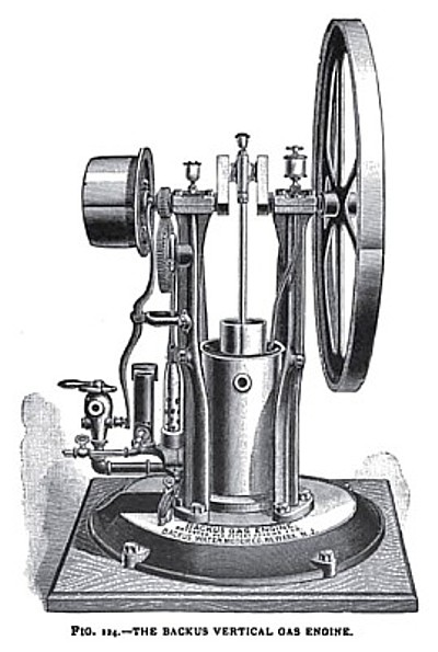 The Backus Vertical Gas Engine