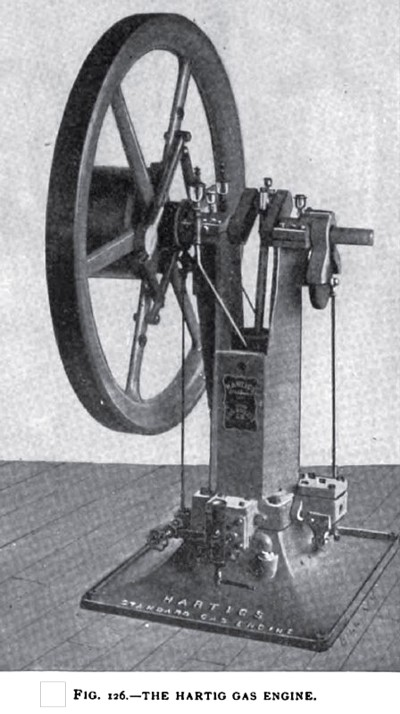 The Hartig Vertical Gas Engine (Sectional View)
