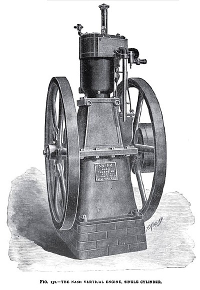 The Nash Vertical Single Cylinder Gas Engine