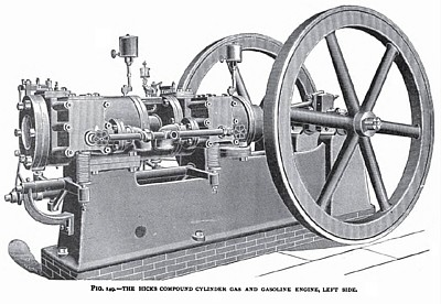 The Hicks Compound Cylinder Gas Engine (Left Side)