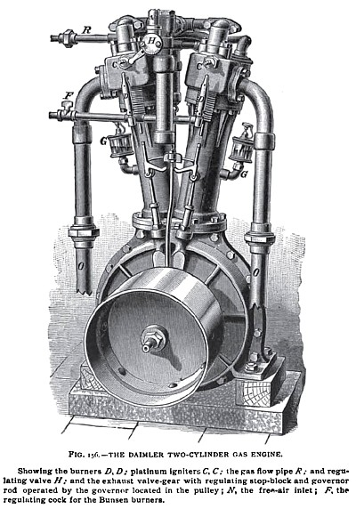 The Daimler Two-Cylinder Gas Engine