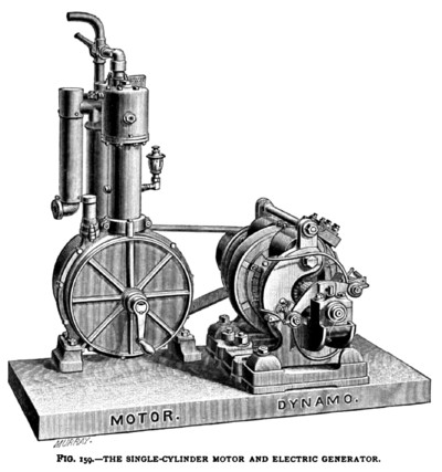 The Daimler Single-Cylinder Motor & Electric Generator