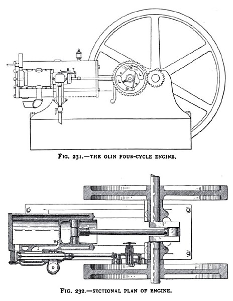 The Olin Four-Cycle Gas Engine