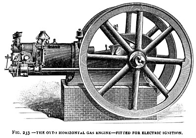 The Otto Gas Engine (with Electric Ignition)