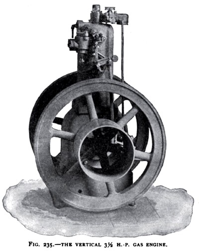 The Otto 3½ H. P. Vertical Gas Engine