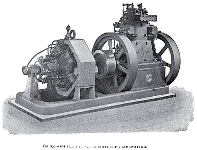 The Otto Duplex Gas Engine (with Generator)