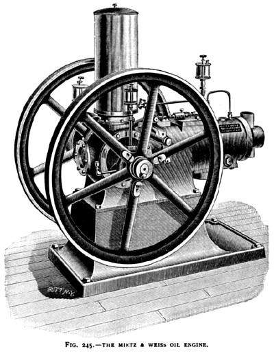 The Mietz & Weiss Oil Engine