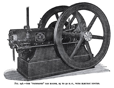 The Fairbanks Gas Engine with Electric Igniter