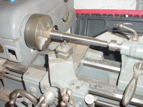 Machining the main shaft