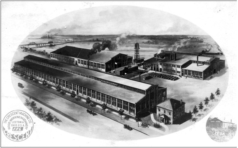 Figure 11. Postcard dated 1911 showing the new Crescent Factory built in 190s. The back of the postcard reads: